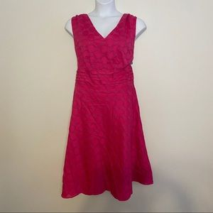 Amanda Lane Fuchsia Polkadot Dress